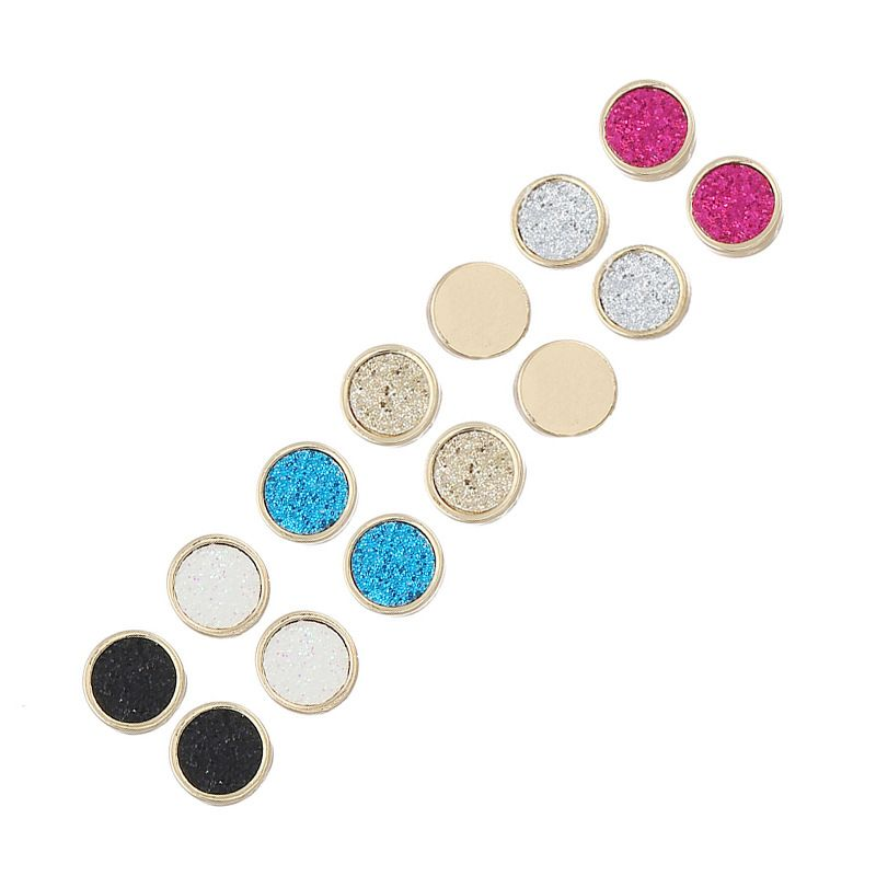 Fashion Alloy plating earring Geometric (Mixed colors)  NHNZ0279-Mixed colors