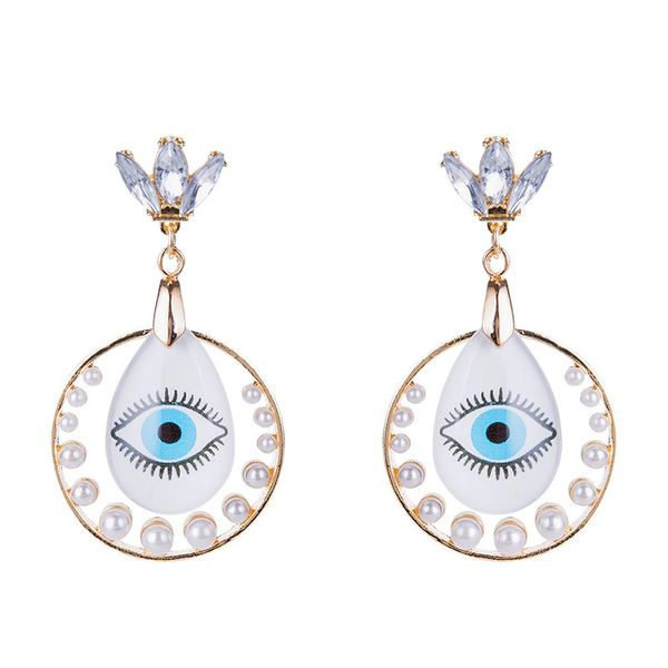 Fashion Alloy Rhinestone earring Geometric (Alloy)  NHYT0790-Alloy