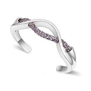Austrian imitated crystal bracelet  Green Story platinum + black rhinestones NHKSE26926