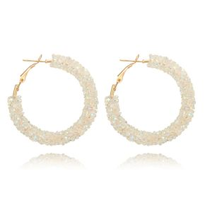 Simple Alloy  earring Geometric (white)  NHGY0908-white