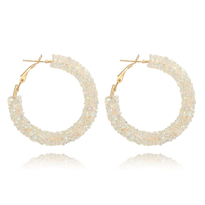 Simple Alloy  earring Geometric white  NHGY0908white