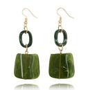 Simple Alloy  earring Geometric green  NHGY0879green
