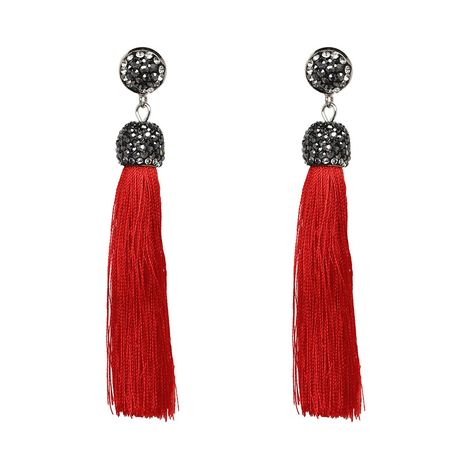 Other Alloy  Earrings Geometric (red)  NHJJ3618-red's discount tags