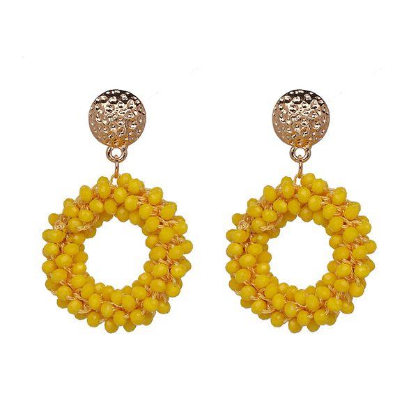 Other Alloy Beads Earrings Geometric (yellow)  NHJJ3626-yellow