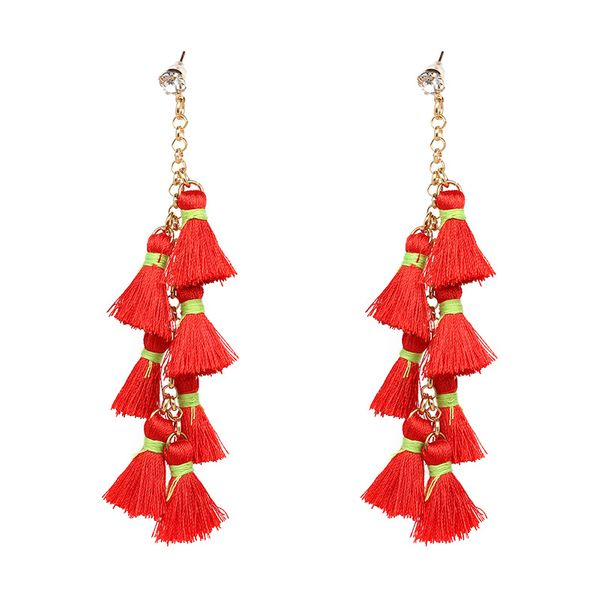 Other Alloy  earring Geometric (red)  NHJJ3641-red