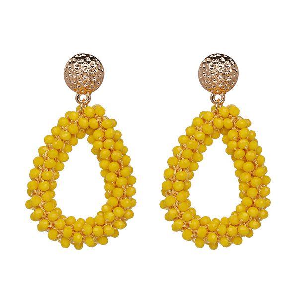 Other Alloy  Earrings Geometric (yellow)  NHJJ3661-yellow