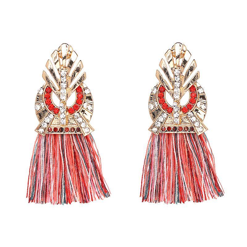Fashion Alloy  earring Geometric (red)  NHJJ3664-red