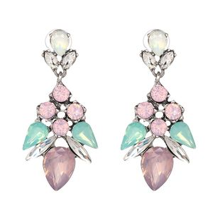 Simple Imitated crystal&CZ  Earrings Flowers (color)  NHJJ3665-color's discount tags