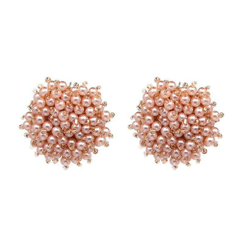 Fashion Beads  earring Flowers (50273Pink)  NHJJ3672-50273Pink