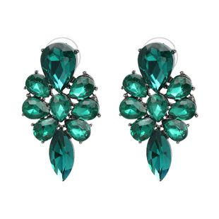 Simple Imitated crystal&CZ  Earrings Flowers (green)  NHJJ3673-green's discount tags