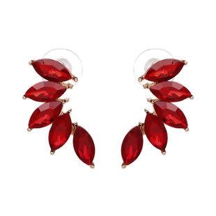 Other Alloy Rhinestone earring Geometric (red)  NHJJ3675-red's discount tags
