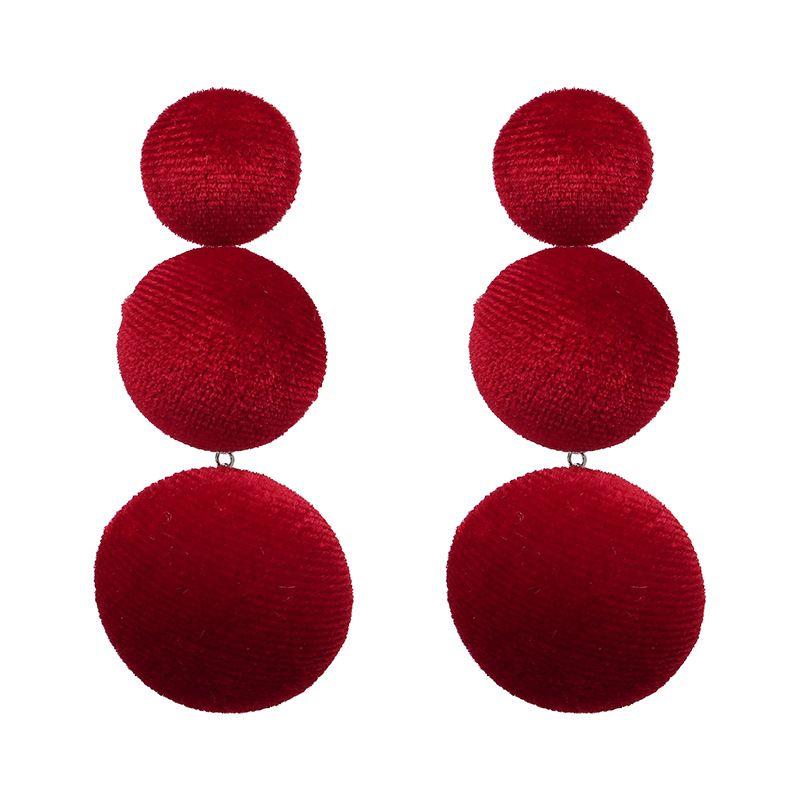 Fashion Alloy plating earring Geometric (red)  NHJJ3694-red