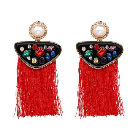 Other Alloy  earring Geometric (red)  NHJJ3704-red's discount tags