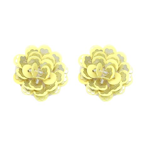 Other Plastic  earring Flowers (yellow)  NHJJ3750-yellow's discount tags
