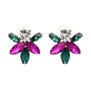 Other Imitated crystal&CZ  Earrings Flowers (color)  NHJJ3755-color's discount tags