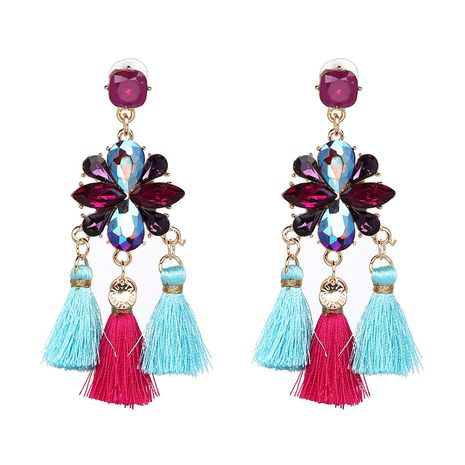 Other Imitated crystal&CZ  Earrings Flowers (50418 color)  NHJJ3786-50418 color's discount tags