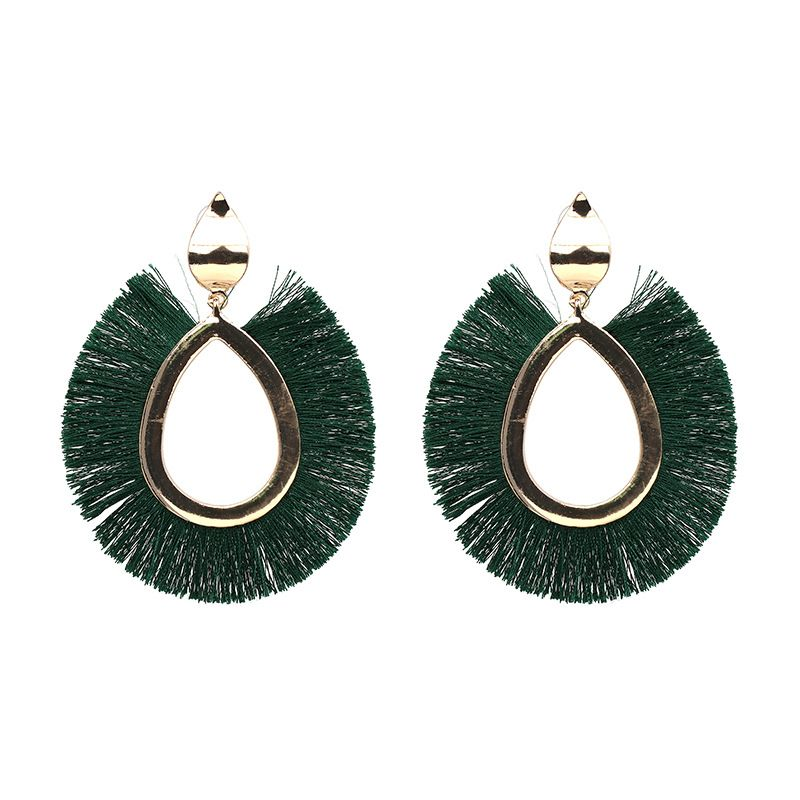 Fashion Alloy  Earrings Geometric (green)  NHJJ3798-green