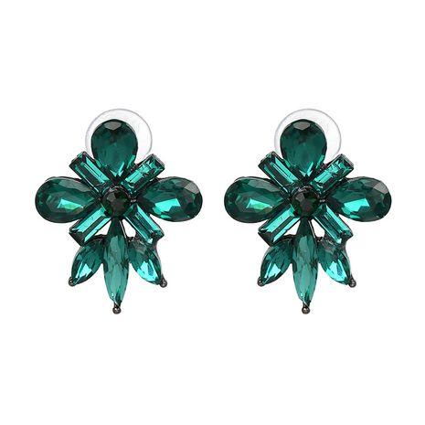 Korea Plastic  earring Flowers (green)  NHJJ3820-green's discount tags
