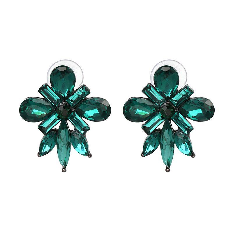 Korea Plastic  earring Flowers green  NHJJ3820green