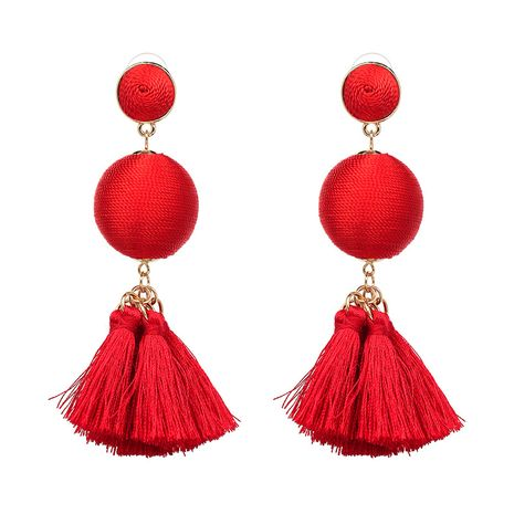 Other Alloy  earring Geometric (red)  NHJJ3839-red's discount tags