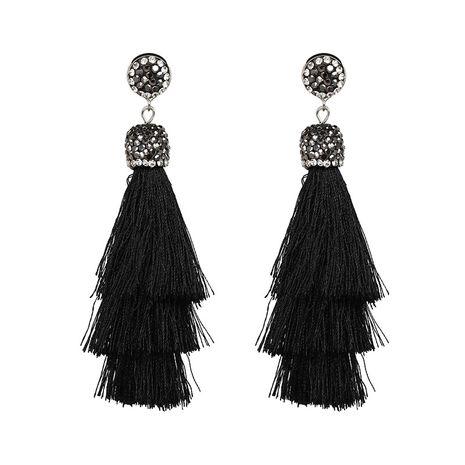 Other Alloy  Earrings Geometric (black)  NHJJ3851-black's discount tags
