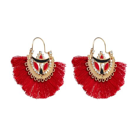 Vintage Alloy  earring Geometric (red)  NHJJ3857-red's discount tags