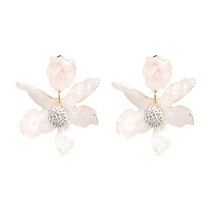 Fashion Acrylic  earring Flowers (white)  NHJJ3859-white's discount tags
