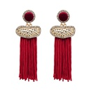 Fashion Alloy  Earrings Geometric red  NHJJ3845red