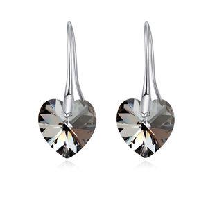Austrian Imitated crystal Earrings  Heart Star Alloy Night Shadow NHKSE24797