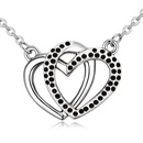 Imported imitated crystal necklace  dancing my heart black NHKSE24801