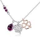 Austrian imitated crystal necklace  spring breeze purple NHKSE25047