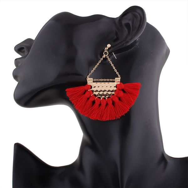 Occident and the United States alloy plating earring (red)  NHNMD3279-red