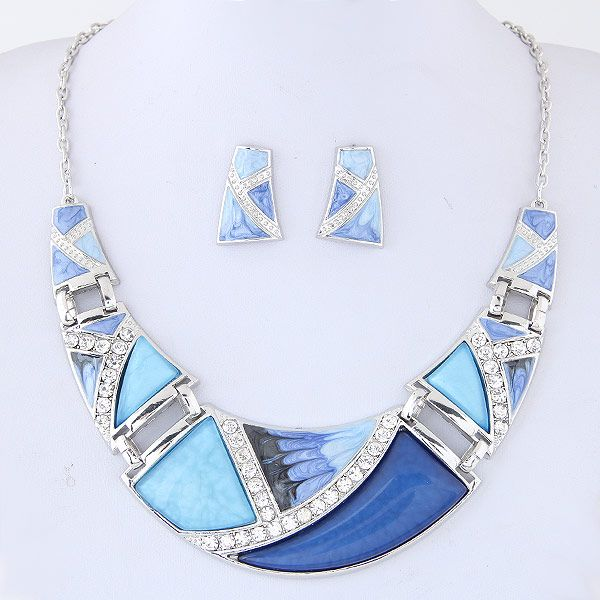 Alloy resin drop necklace NHNSC6543
