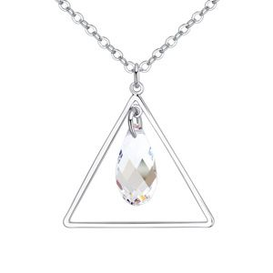 Austrian Imitated crystal Necklace  Triangle in Tears White NHKSE25400