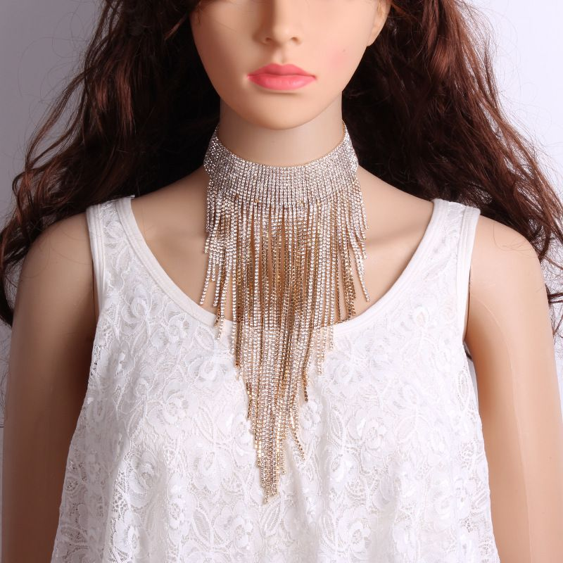 Occident and the United States alloy Rhinestone Necklace (Alloy)  NHJQ8142