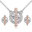 Imported imitated crystal set necklace  imprisoned love white NHKSE25335