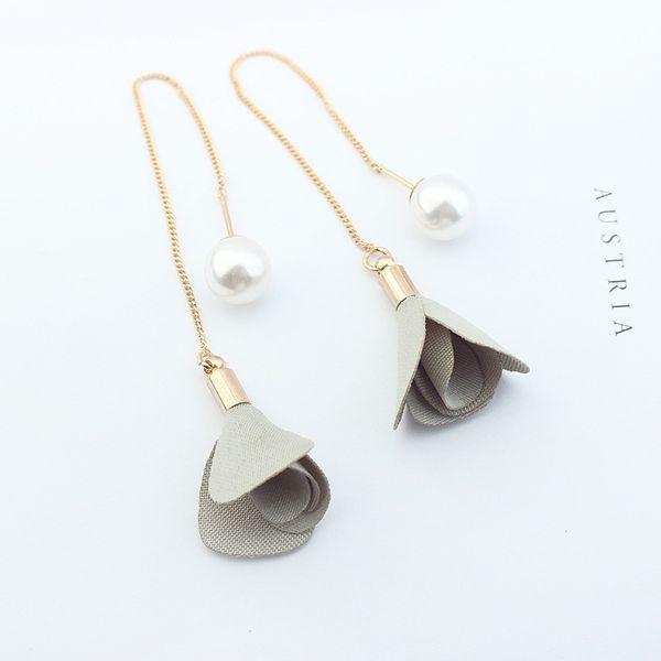 Copper imitation beads earring NHNPS2173