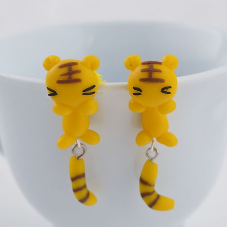 Cartoon Soft pottery manual earring (yellow)  NHGY0005's discount tags