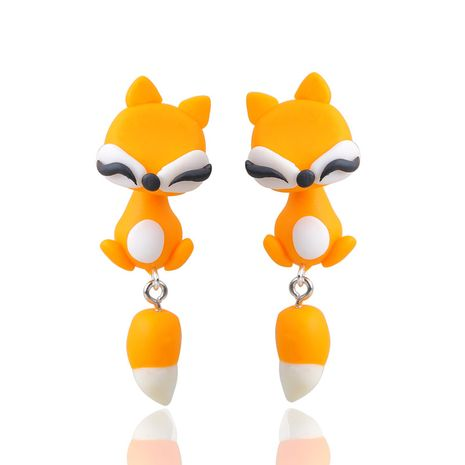 Cartoon Soft pottery manual earring (Orange)  NHGY0011's discount tags