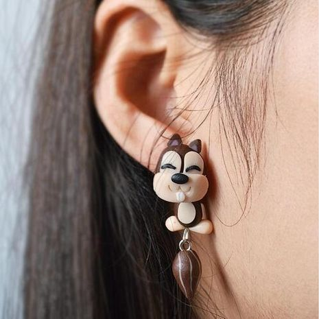 Cartoon Soft pottery manual earring (Fine eyes)  NHGY0015's discount tags