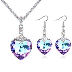 Austrian Imitated crystal Stud Earrings  Butterfly Star Sea Blue NHKSE25549