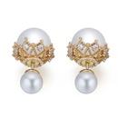 Austrian Imitated crystal Earrings  Immediate White NHKSE25556