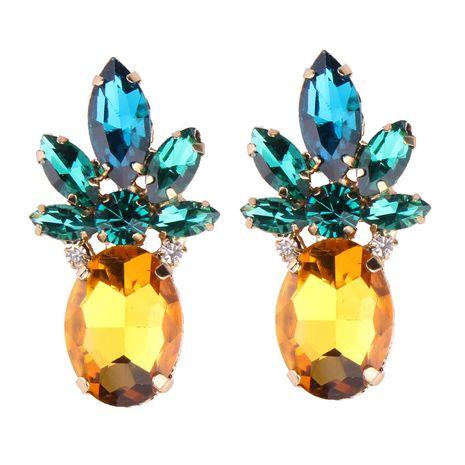 Fashion OL alloy Rhinestone earring (yellow-green)  NHJQ8552-yellow-green's discount tags