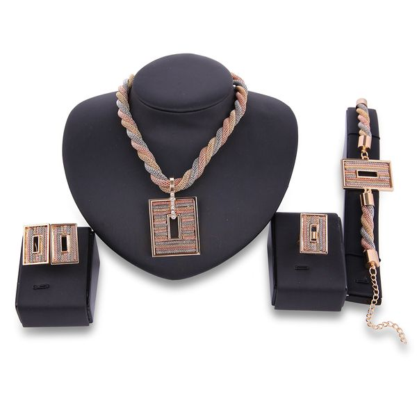 Occident and the United States alloy plating Necklace set (18K alloy / 61164341)  NHXS1282