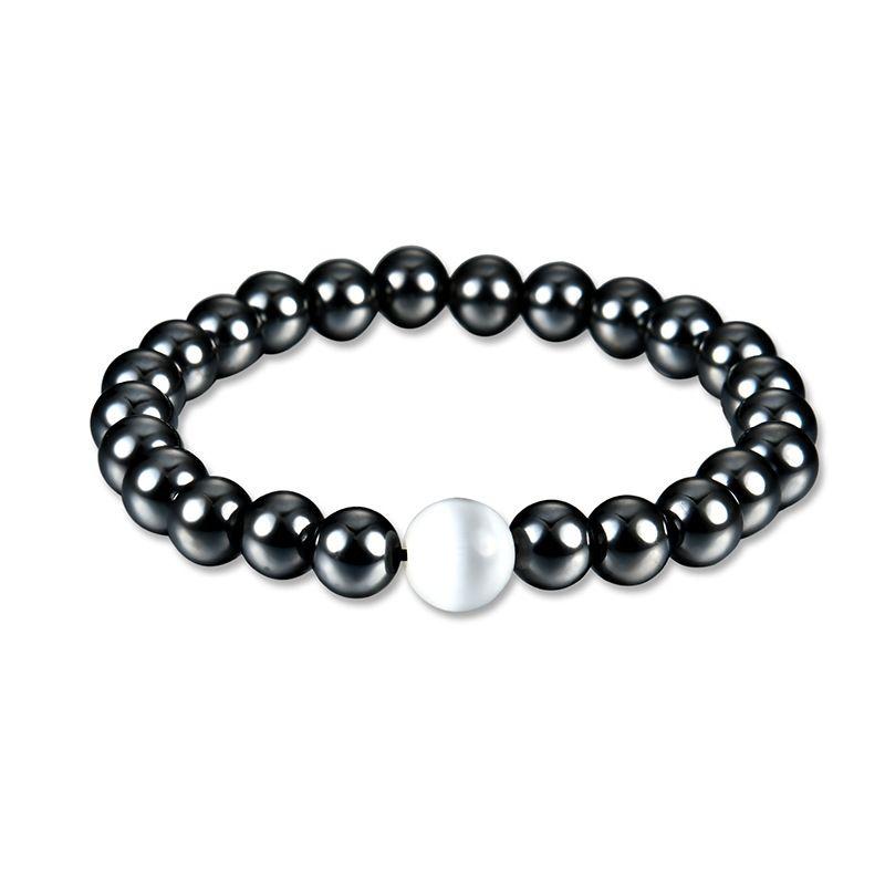 Occident and the United States Hematite Inlaid stones Bracelet 61176284  NHLP0761