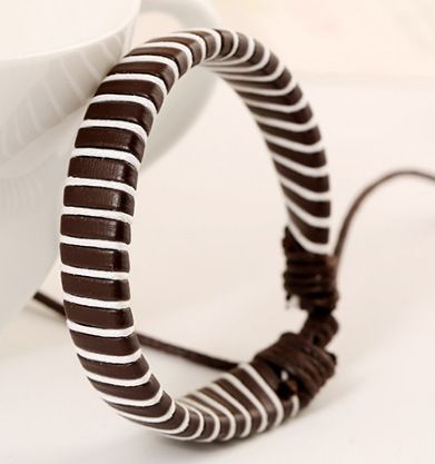 Korean version of Korean  Korean style Artificial leather plating Bracelet brown  NHPK0909