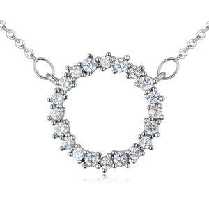 AAA grade mosaic necklace - love halo (platinum) NHKSE25783