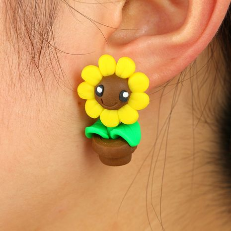 Cartoon Soft pottery Soft pottery earring (sunflower)  NHGY0186-sunflower's discount tags