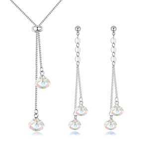 Austrian Imitated crystal Set  Reluctant Color White NHKSE26007