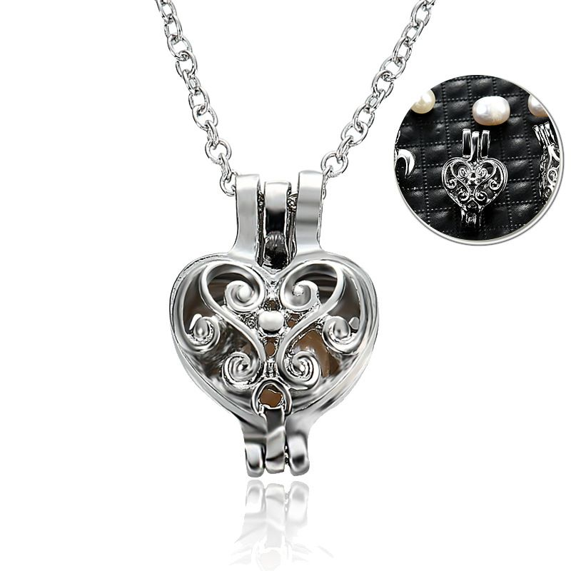 Simple alloy Beads inlay necklace 61171399  NHLP079661171399